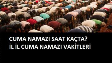 20 Eylül Cuma Vakitleri | Cuma namazı kaçta? İl il cuma vakitleri