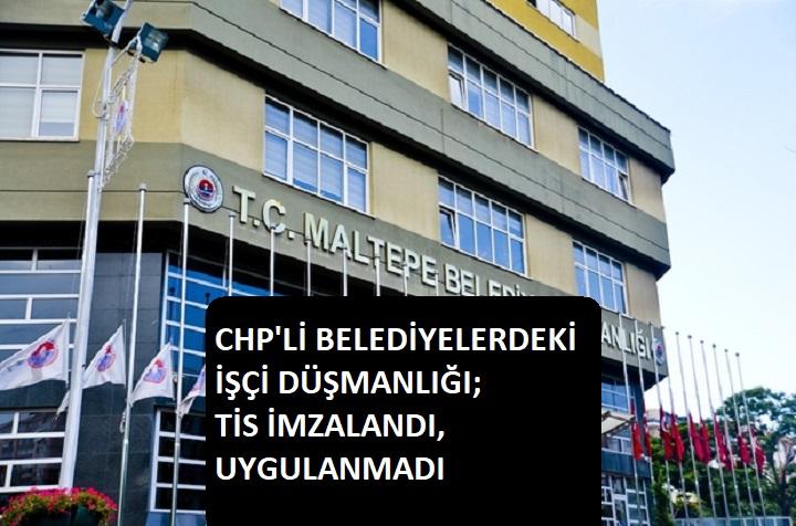 Bir CHP'li belediyede daha işçi eylemi