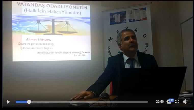 AHMET SANDAL'DAN VATANDAŞ ODAKLI YÖNETİM KONUSUNDA RADYO VE SEMİNER PROGRAMI