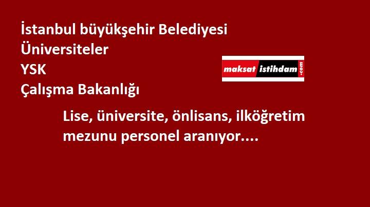 Ankara ve İstanbul'a kamu personeli aranıyor! Belediye-üniversite-bakanlık