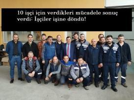 Öz Taşıma-İş'ten büyük başarı: 10 işçiyi döndürdüler