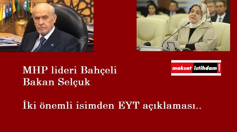 Bakan Selçuk ve Devlet Bahçeli'den flaş EYT açıklamaları