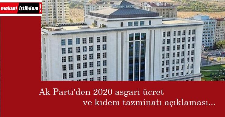 Ak Parti'den asgari ücret ve kıdem tazminatı açıklaması