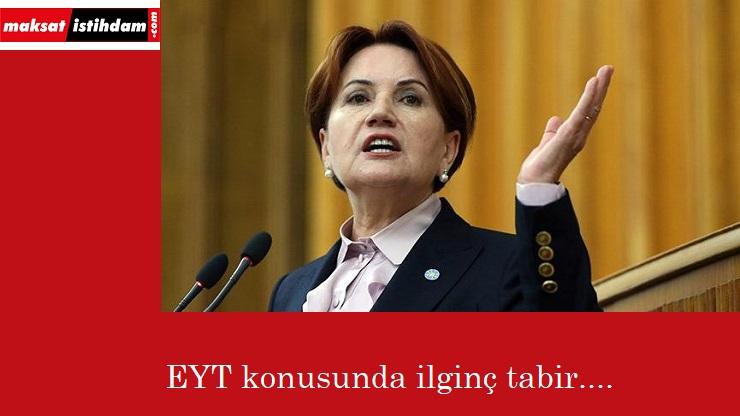 """Meral Akşener: """"EYT'yi itip kakarsanız…"""""""