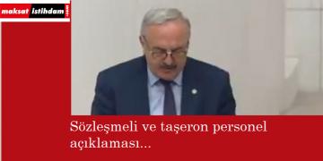 İYİ Parti'den sözleşmeli ve taşeron personel açıklaması