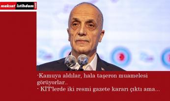 """Ergün Atalay: """"KİT'lere söz verildi, bir buçuk yıl zaman geçti"""""""