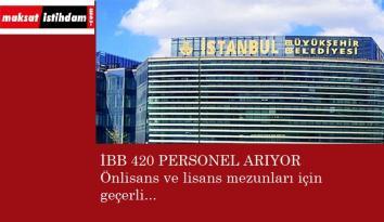 İstanbul Büyükşehir Belediyesi önlisans ve lisans mezunu personel alacak