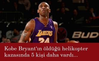 Kobe Bryant'ın da içinde bulunduğu helikopter düştü