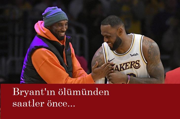 Kobe Bryant'ın ölümünden önceki LeBron detayı