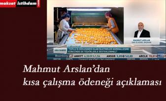 Mahmut Arslan'dan istihdamın korunmasına yönelik öneriler