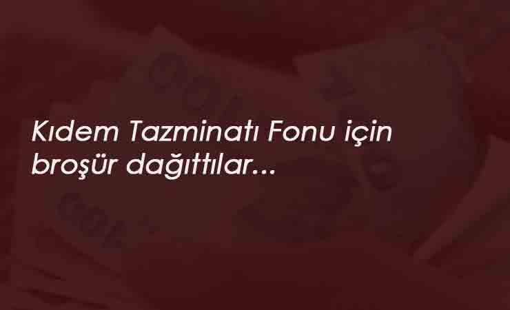 Türk-İş'ten kıdem tazminatı etkinliği