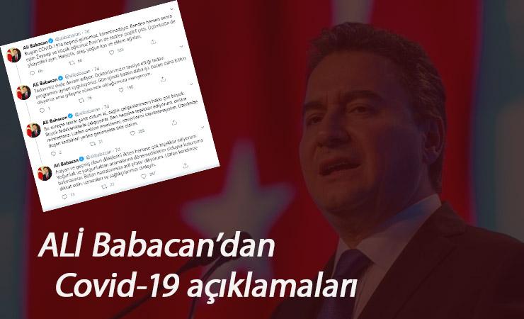 Ali Babacan'ın sağlık durumu nasıl? Covid olan Babacan'dan açıklamalar