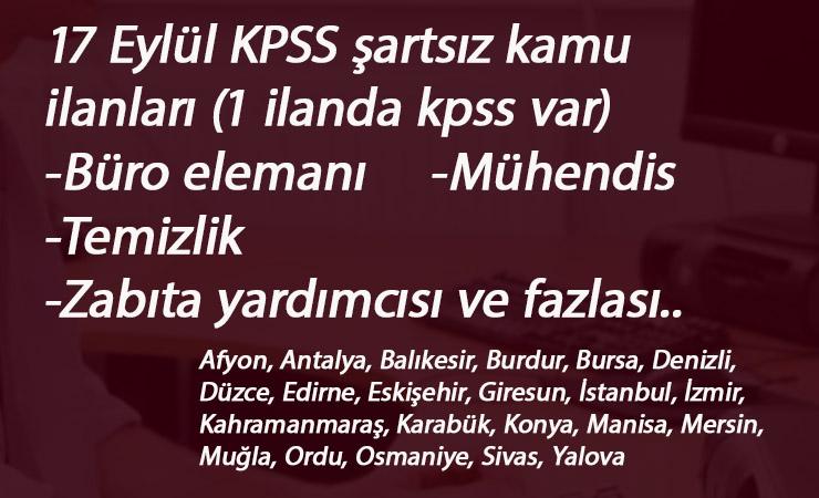 22 ilde belediye- SYDV-Üniversite ilanları: KPSS'siz kamu alımları başladı