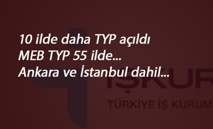 16 Eylül MEB TYP ilanları: 10 il daha açıldı- İstanbul ve Ankara geldi