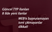 Yeni TYP ilanları açıldı: 8 ilde yüzlerce personel alınacak