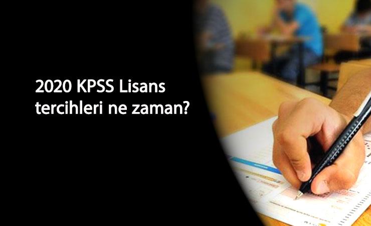 2020 KPSS Lisans tercihleri ne zaman başlayacak? Sonuçların ardından tercihler bekleniyor