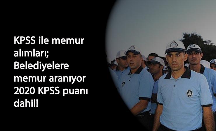 KPSS şartlı itfaiye-zabıta-memur alımları başladı