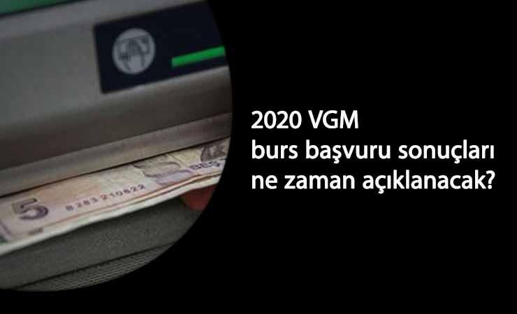 VGM 2020 lise ve üniversite burs başvuru sonuçları ne zaman açıklanacak?