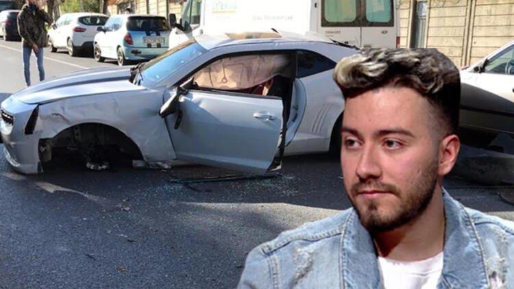 Ünlü Youtuber Enes Batur trafik kazası geçirdi: İşte sağlık durumu