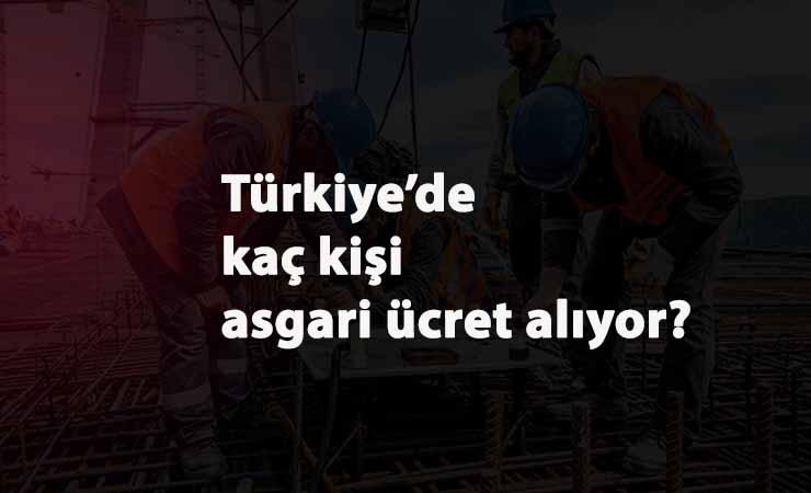 Türkiye'de kaç asgari ücretli var?