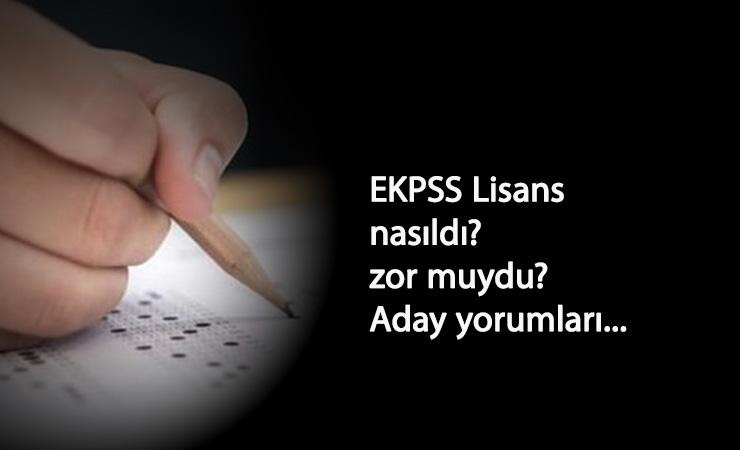 2020 EKPSS Lisans soru ve cevapları nasıldı? Sınav zor muydu? Adaylar yorumluyor