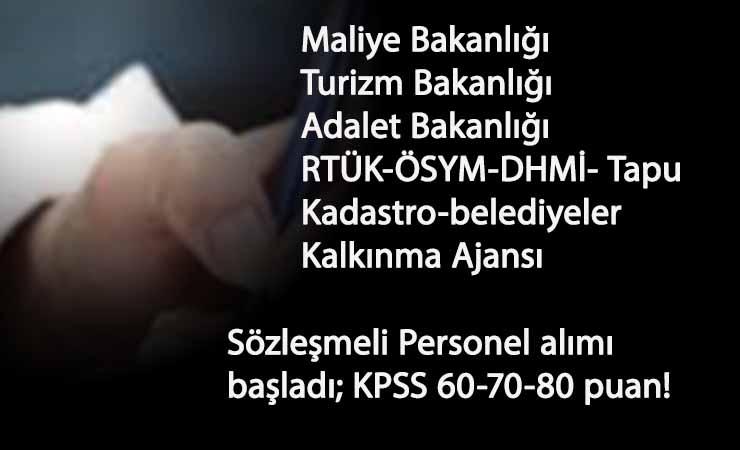 Sözleşmeli Personel alımı başladı: Bir çok devlet kurumu personel arıyor!