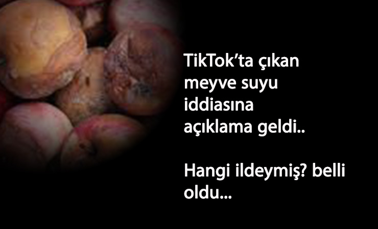 TikTok'taki çürük meyveler üzerine bakanlıktan açıklama!
