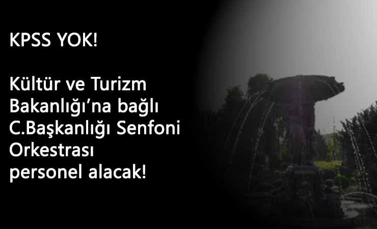 Kültür ve Turizm Bakanlığı KPSS şartsız personel alımı: 35 kişi alınacak