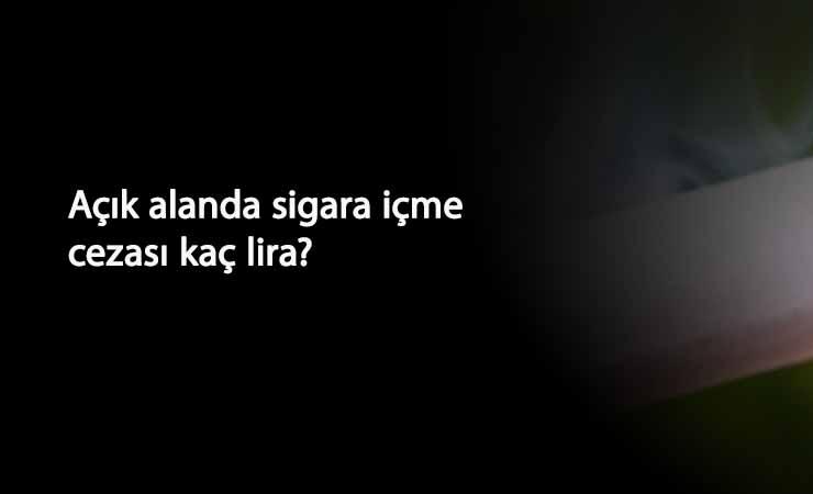Sokakta sigara içmenin cezası kaç lira? Türkiye geneli yasak başladı