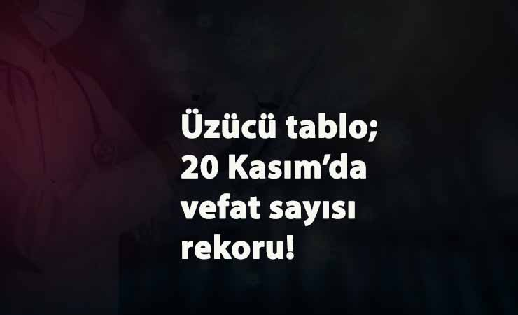Türkiye'de Koronavirüs kaynaklı en yüksek vefat sayısı 20 Kasım'da